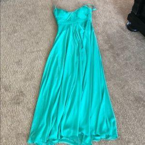 BCBG Turquoise chiffon dress